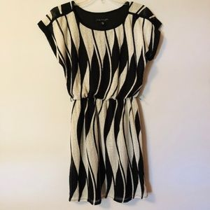 Black and White Print Dress Small